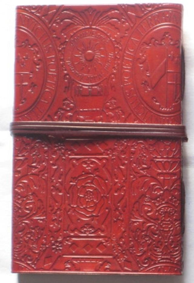 Handmade Tudor-style leather journal