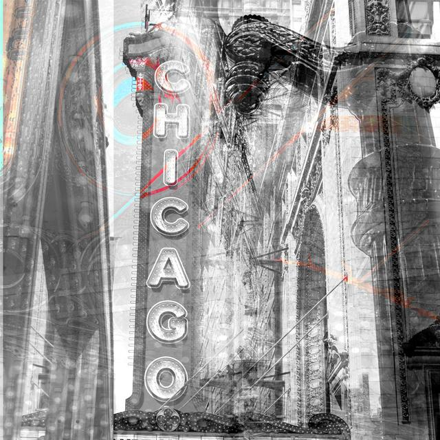 Chicago Theater Digital Photography Collage on Canvas