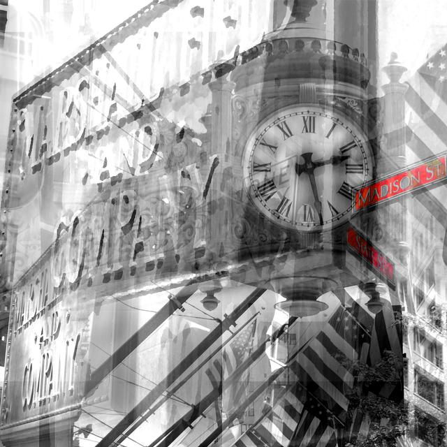 Marshall Fields Digital Photography Collage on Canvas
