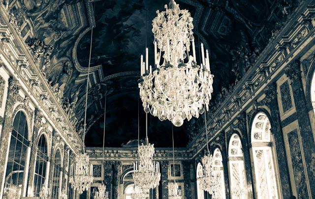 Hall of Mirrors Chandelier available in multiple sizes on canvas and photograph print